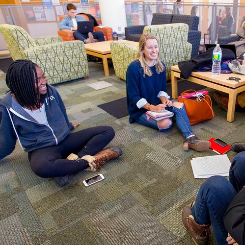 Students in KJ Commons