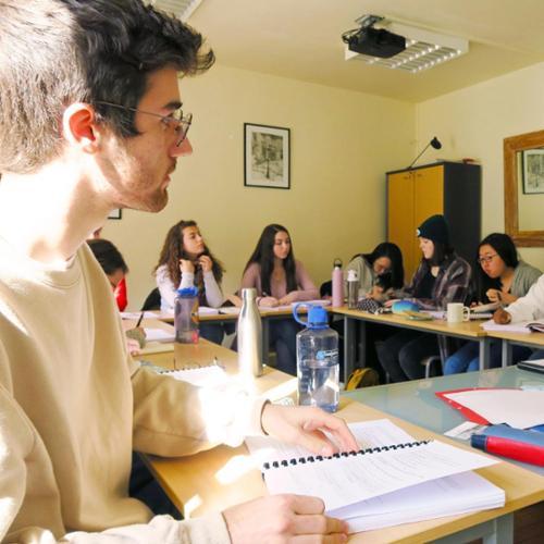 Class at Reid Hall