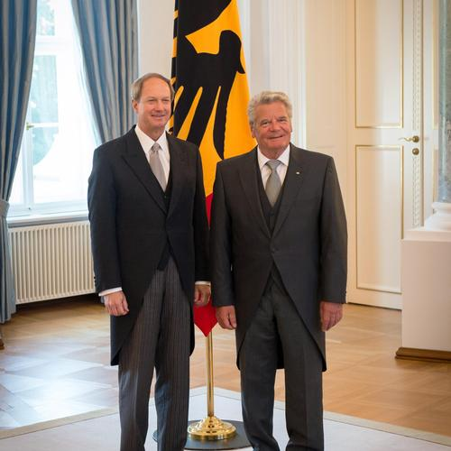 Ambassador Emerson with German President Joachim Gauck