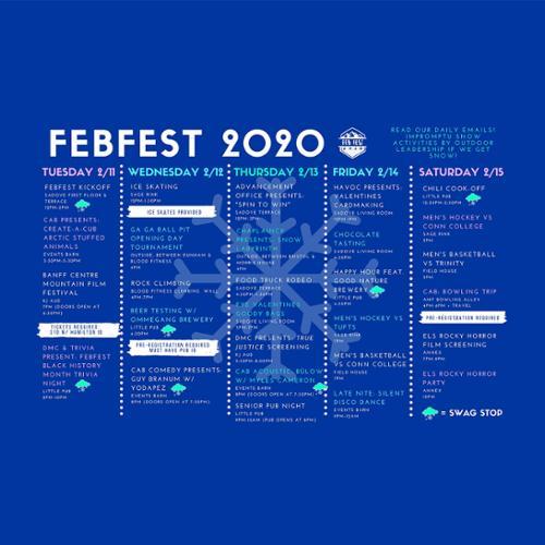 FebFest 2020 Calendar