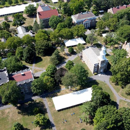 Aerial view of the main quad
