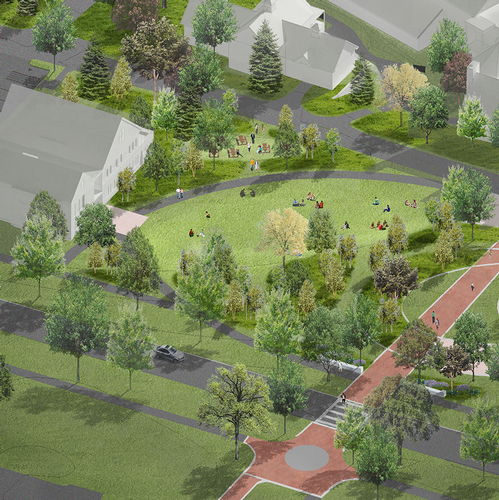 Health and Counseling Center - architectural rendering - aerial view