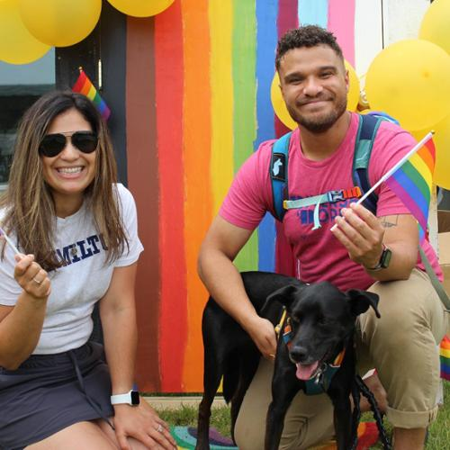 Paola Lopez-Fincannon and Neil Butler at Pride in the Park