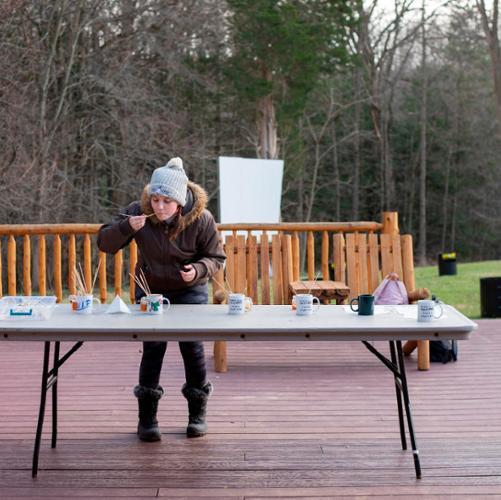 America Grafton '24 maple syrup tasting