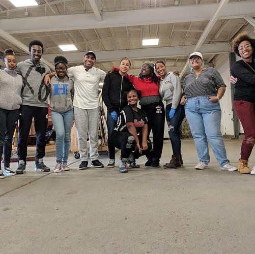 BLSU volunteers at Sculpture Space