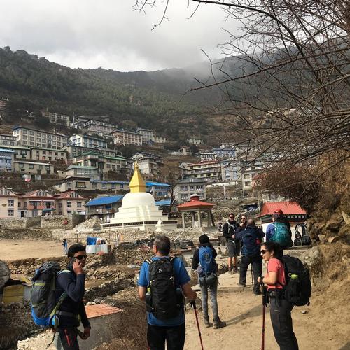Trekkers reach Namche Bazaar