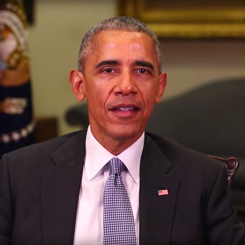 Screenshot of President Obama's video tribute to Vilsack