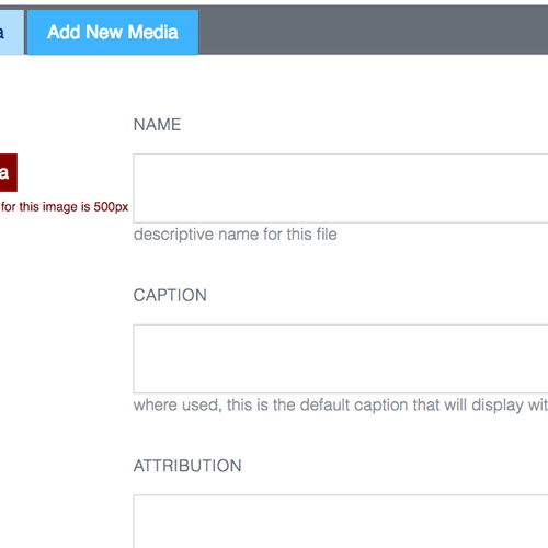 SiteManager - Adding New Media help 2