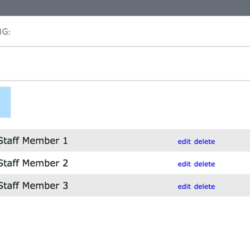 SiteManager - Staff Directory