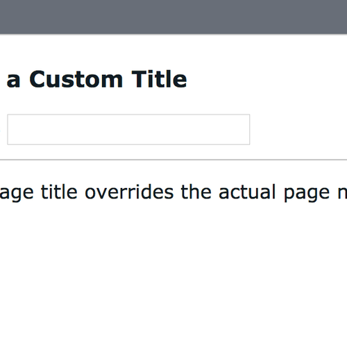 SiteManager - Page Title