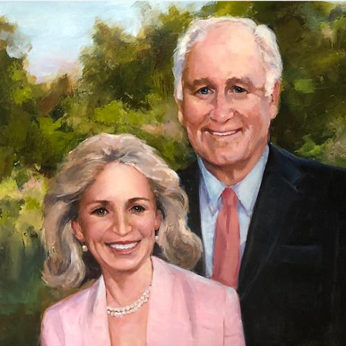 portrait of Keith and Wendy Wellin