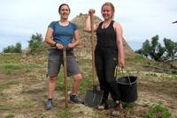 Feltovich, Naston '20, and Williams '18 Excavate at Pylos, Greece