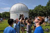 Hundreds Watch Eclipse at College Observatory