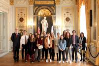 Hamilton in France Tours U.S. Embassy With Du Vernay '03