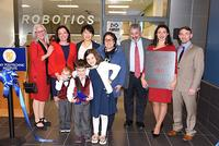 SUNY Poly Holds Ribbon Cutting with Hage Family for New 'Hage Family Robotics Lab'