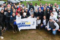 Wintry Weather Can't Keep Relayers Away