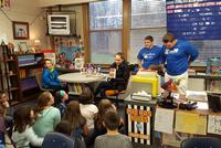 Hamilton Athletes Read at Local Elementary Schools