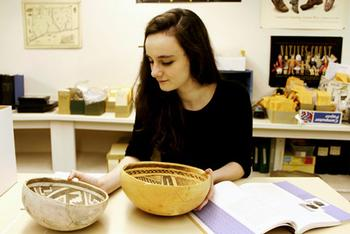Lillia McEnaney '17 Explores Possible Archaeology Career Through Summer Internships