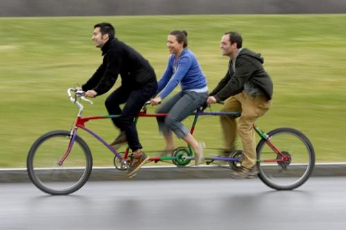 Three person bike