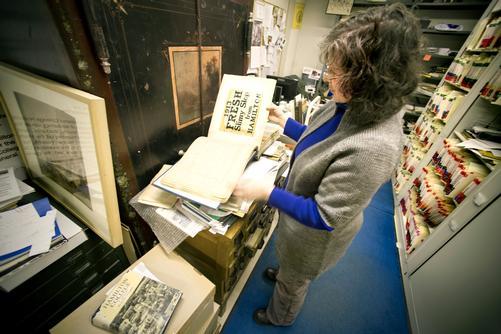Archivist Katherine Collett