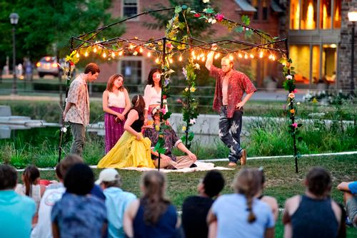 Midsummer Night's Dream performance in the Amphitheater