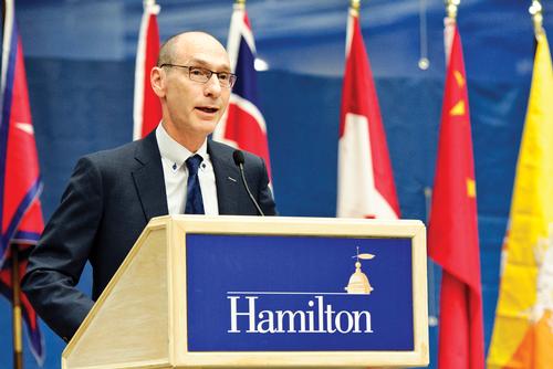 President Wippman during Orientation 2016