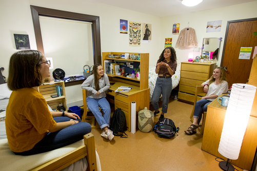Students in Wertimer House