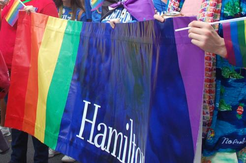 Hamilton's Blue Out in Force at NYC Pride Parade