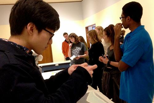 Hispanic Studies Group Views Emilio Sánchez Exhibit at MWPAI