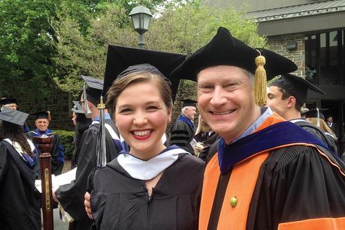 Joelle Baer '16 with Professor of Physics Gordon Jones
