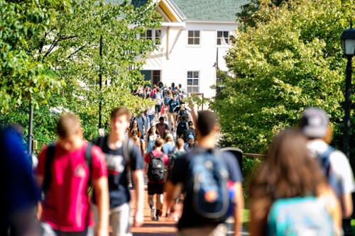 Students walking on Martin's Way