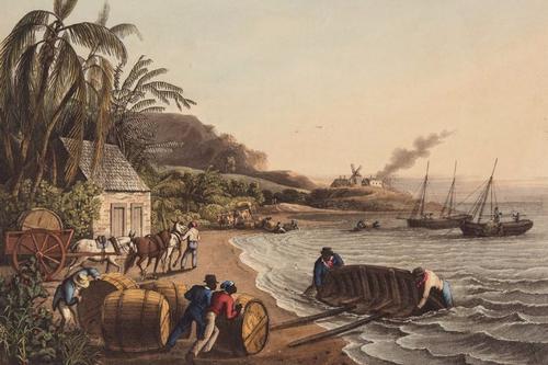 Shipping Sugar, Willoughby Bay, Antigua