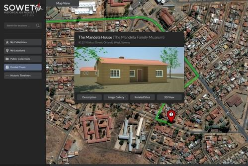 Soweto Historical GIS Project Interface