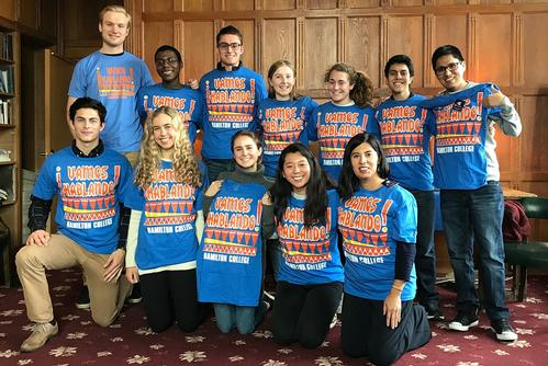 Hamilton Tutors Teach Spanish at Clinton Elementary