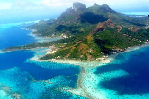 Bora Bora was a Hamilton travel destination