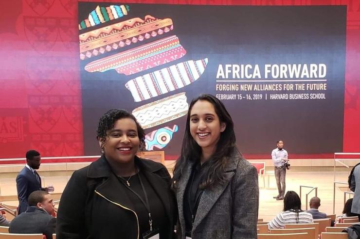 Haile '19 and Rajaram '19 Attend African Business Conference
