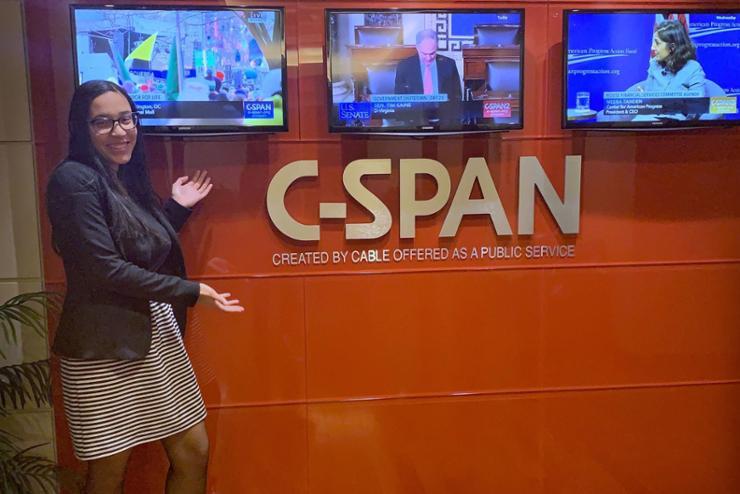 Torres '21 Explores Careers Through C-Span Internship