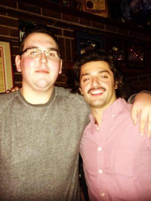 Ted Barrett '14 (left) and Peter Michailidis '16 (right)