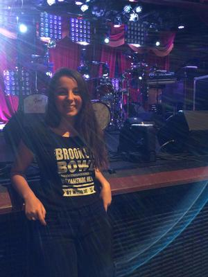 Adelaide Fuller '17 during her internship at the Brooklyn Bowl music venue