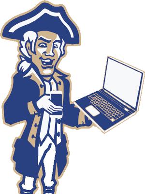 Alexander Hamilton Computer and Cellphone