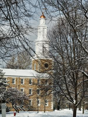 The Hamilton Chapel in winter