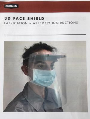 Completed face shield