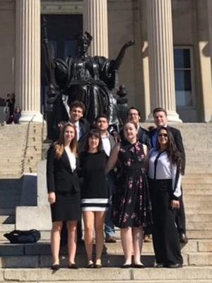 Hamilton's Model UN team at Columbia University.