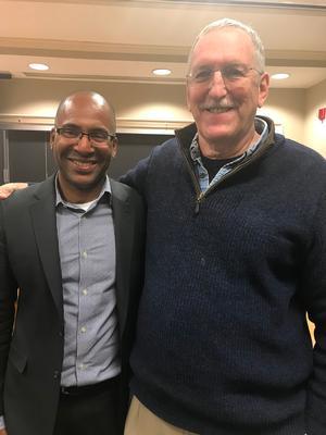 Erik McDuffie '92 and Professor Maurice Isserman