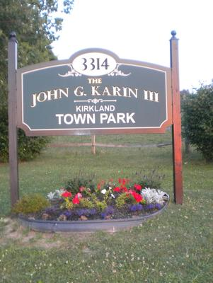 The John G. Karin Kirkland Town Park has been awarded $16,000 for new playground equipment.