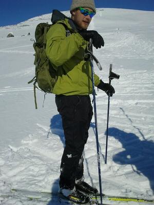 Lucas Harris '12 near his study site in Finland: the Saana massif, near Kilpisjärvi