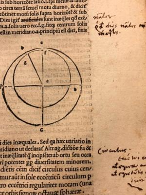 Marginalia translated by Chivily from Spherae tractatus Ioannis de Sacro Busto
