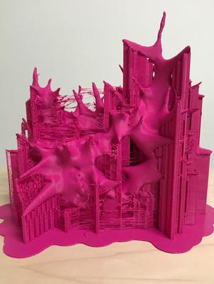 3D-printed sculpture created by Professor of Art Rebecca Murtaugh