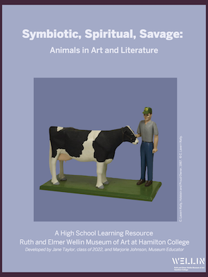 """Cover Page of learning resource entitled """"Animals in Art and Literature"""""""