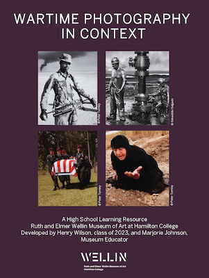 """Cover Page of learning resource entitled """"Wartime Photography in Context"""""""